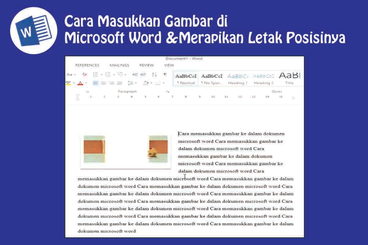 Cara Memasukkan Gambar di Word