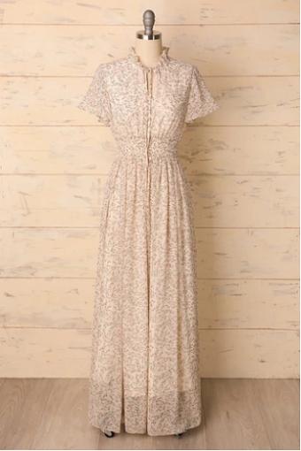floral maxi boho dress