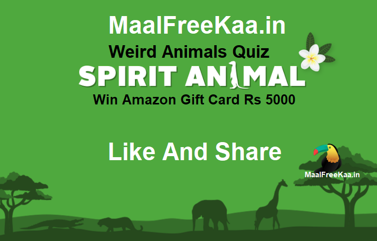 Guess Animal Name Quiz Contest Win Amazon Gift Card Rs 5000
