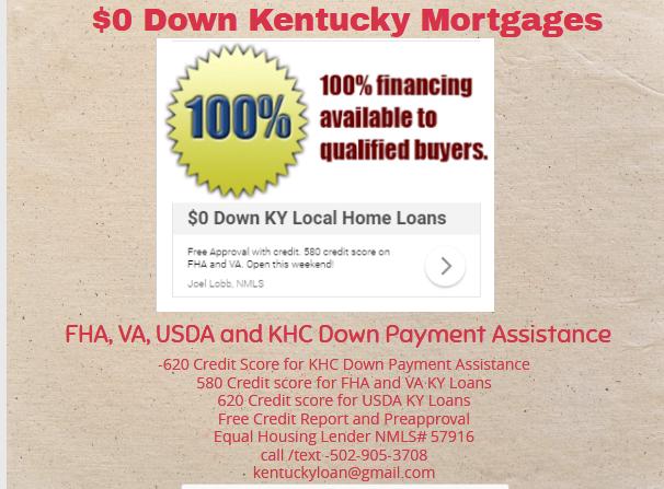 First Time Home Buyer Kentucky Loans