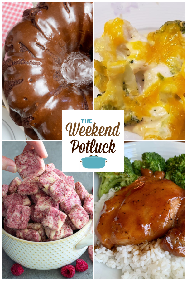 A virtual recipe swap with Brownie Cake, Broccoli and Cauliflower Cheesy Bake, Easy Raspberry Almond Shortbread Bites, Easy Baked Teriyaki Chicken and more!