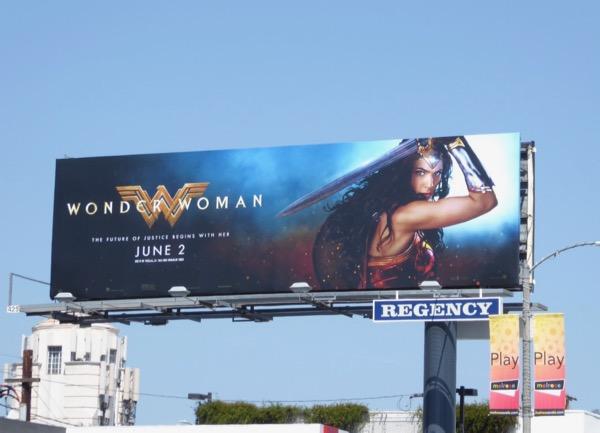 Wonder Woman movie billboard