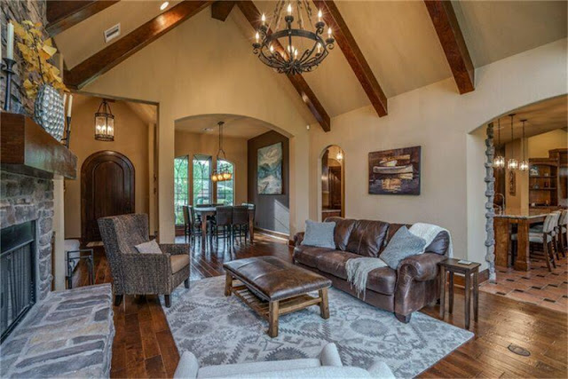 Home Styles-Wood Beams-Rock Fireplace-Rustic Home- From My Front Porch To Yours