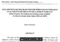 Jurnal Analisis Pengaruh Karakteristiki Perusahaan Terhadap Luas Voluntary Osclosure Laporan Tahunan Pdf Download