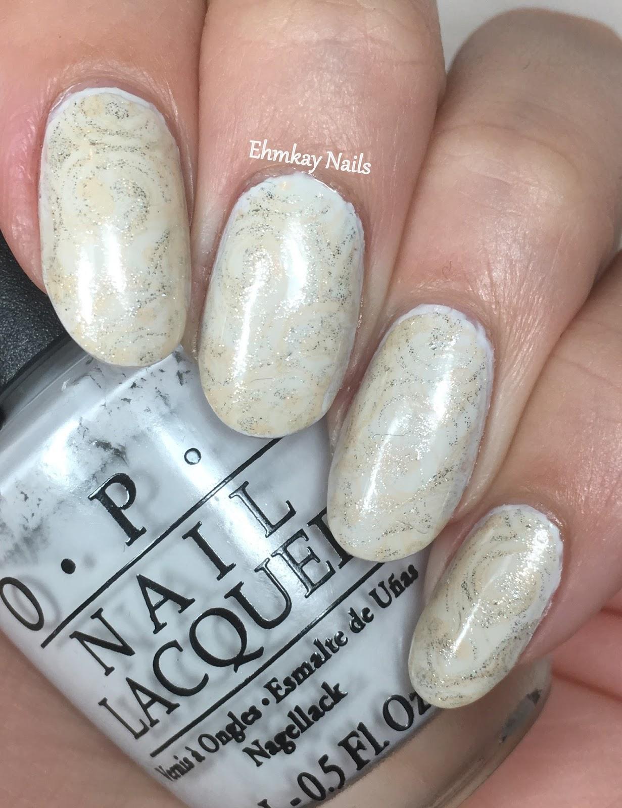 Ehmkay nails bone china nail art with opi bone china nail art with opi prinsesfo Images