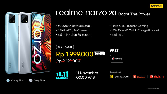 realme narzo 20 11.11 salebration