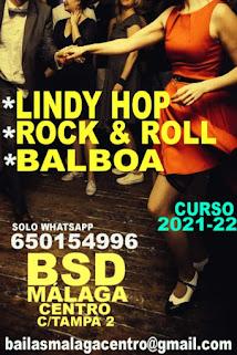 BAILA LINDY HOP- ROCK & ROLL- BALBOA EN BSD MÁLAGA CENTRO.