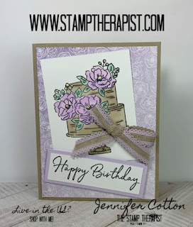 Jennifer shows you how to make this birthday card using Stampin' Up!'s Happy Birthday to You Sale a Bration stamp set!  Click the picture to go to the blog for the video!