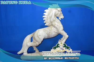 Patung Kuda Putih | Patung Kuda Ukuran Mini | Patung Kuda Minimalis