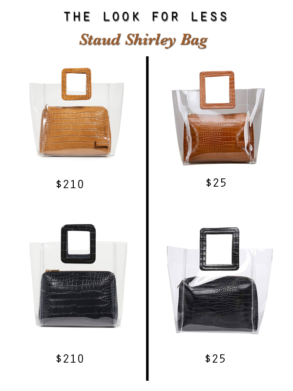 Staud Shirley clear PVC bag dupes