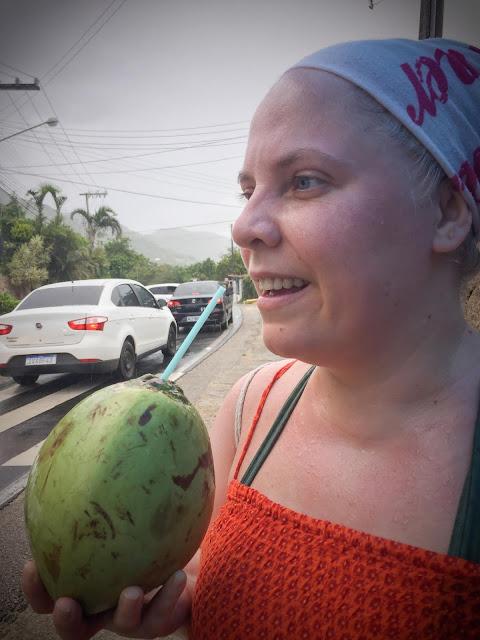 Traffic jams, rain, and coconut water; Florianópolis, Brazil