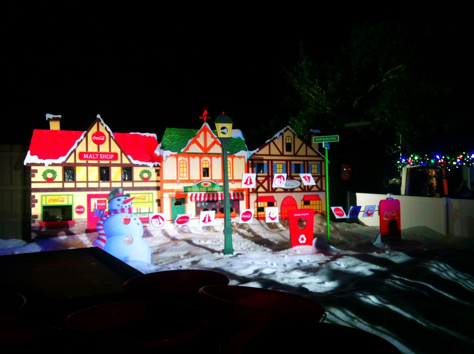 Christmas town at busch gardens i run for wine - Busch gardens christmas town rides ...