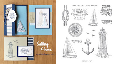 Stampin' Up! Sailing Home Card Kit ~ masculine cards ~ 2019-2020 Annual Catalog ~ Stamp of the Month Club Card Kit ~ www.juliedavison.com
