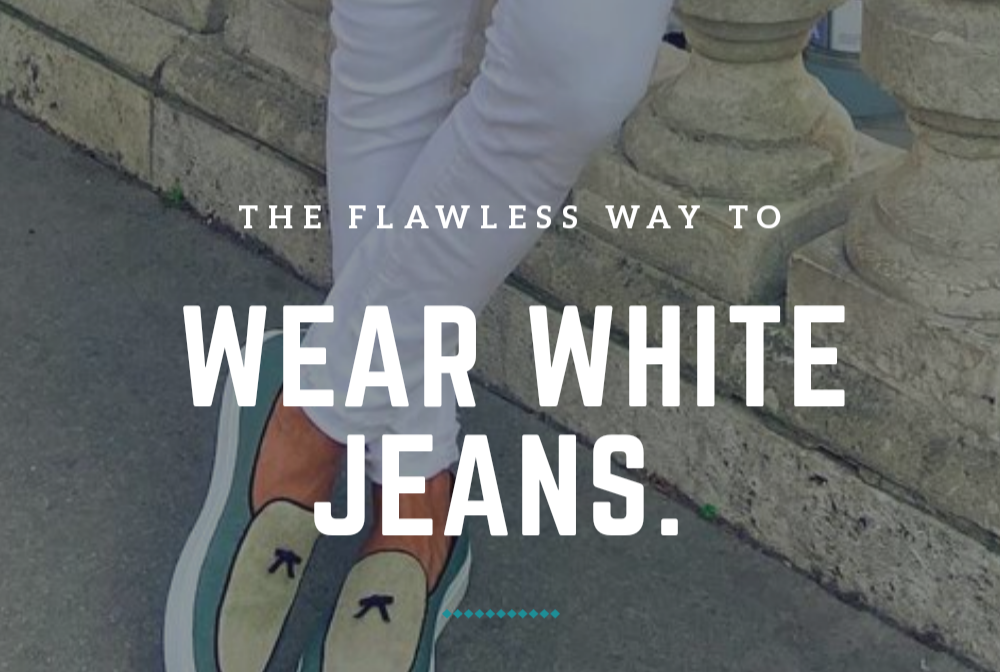 Several Ways To Wear Men's White Jeans.