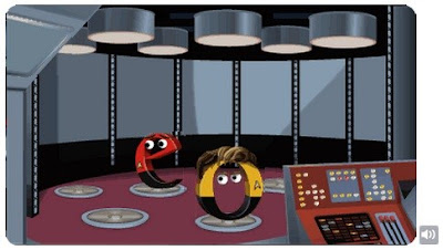 Google Doodle celebrating the 46th anniversary of Star Trek