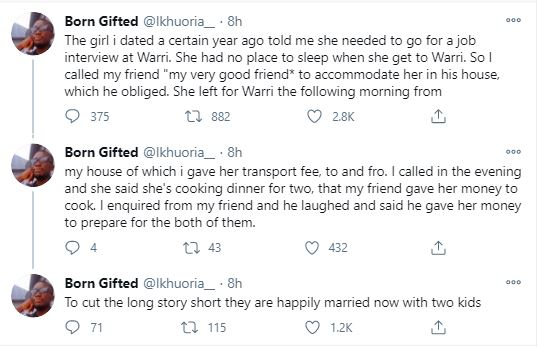 My Bestfriend Married My Girlfriend After He Helped Me Accommodate Her In His House For An Interview – Man Shares Heartbreaking Story #Arewapublisize