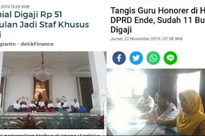 Netizen Bandingkan Gaji Stafsus Jokowi Rp 51 Juta Dengan Guru Honorer 11 Bulan Tidak Digaji