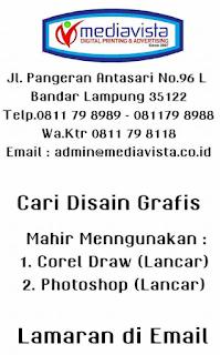 Karir Lampung Terbaru di CV. Mediavista Advertising Bandar Lampung Maret 2018