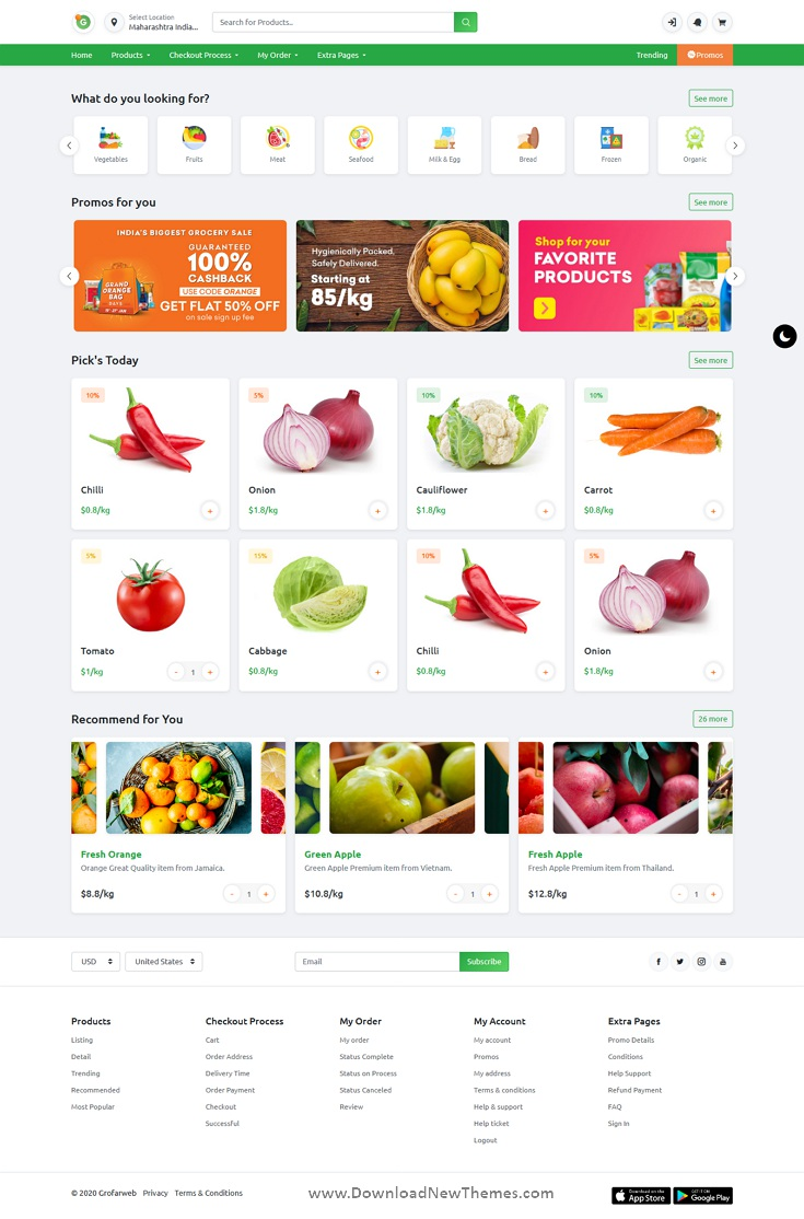 Online Grocery Supermarket HTML Template