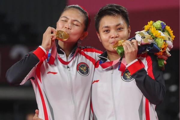 Greysia Polli dan Apriyani Rahayu Persembahkan Medali Emas Pertama Untuk Indonesia di Olimpiade Tokyo 2020