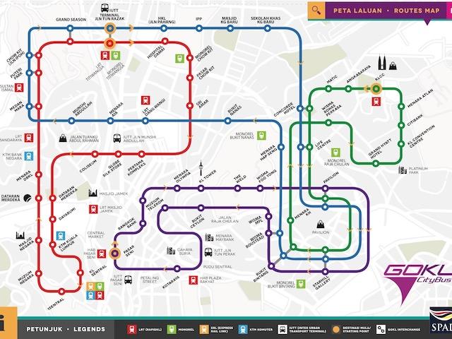Go KL Bus Routes Map