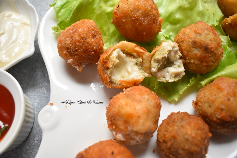 how to make chicken cheese balls