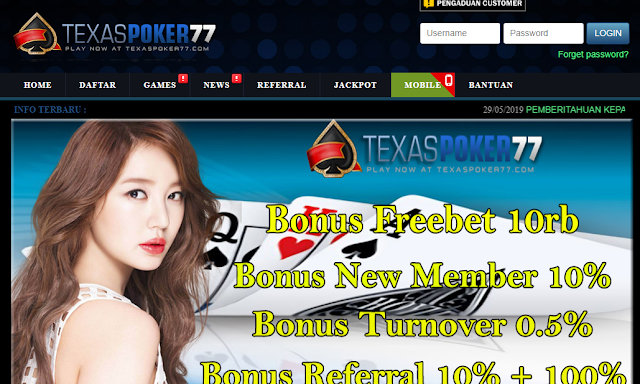 TEXASPOKER77 Situs Game Judi Pulsa Poker Online Terpercaya