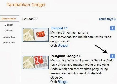 cara memasang widget di blogspot