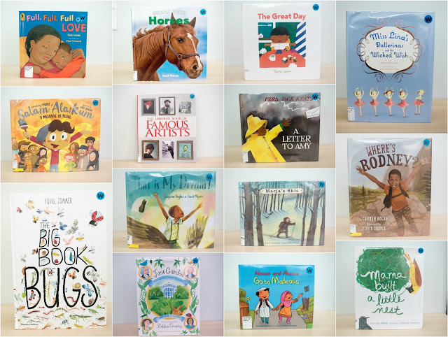 Montessori friendly books on our library shelves