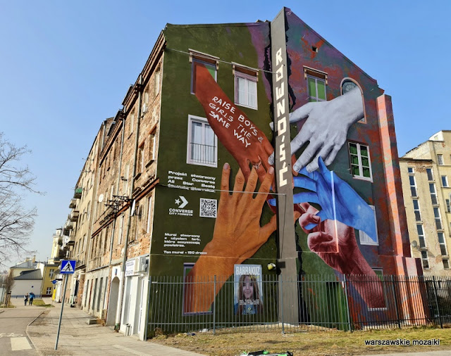 Beata Śliwińska Barrakuz Warszawa Warsaw Praga Północ mural warszawskie murale streetmural muralart kamienica city forest streetart