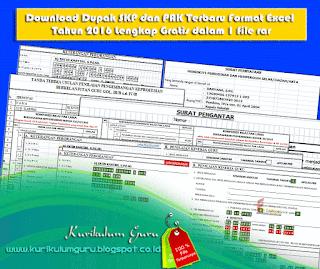 Download Dupak SKP dan PAK Terbaru Format Excel Tahun 2016 Lengkap Gratis dalam 1 file rar