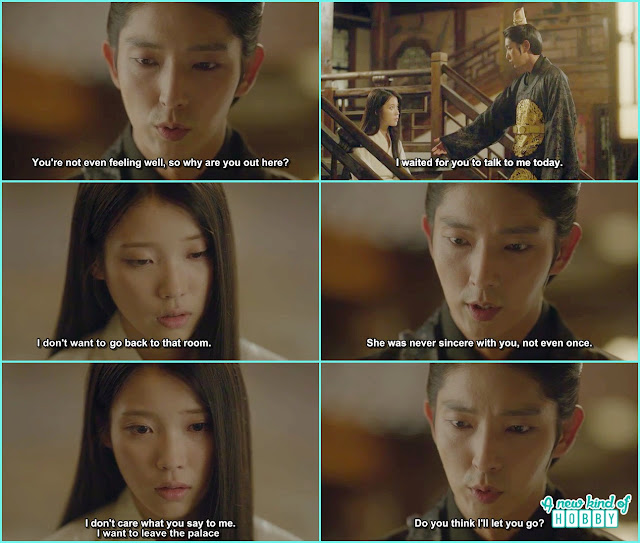 hae soo told wang so she didn't care what he say about chae ryung  - Moon Lovers Scarlet Heart Ryeo - Episode 19