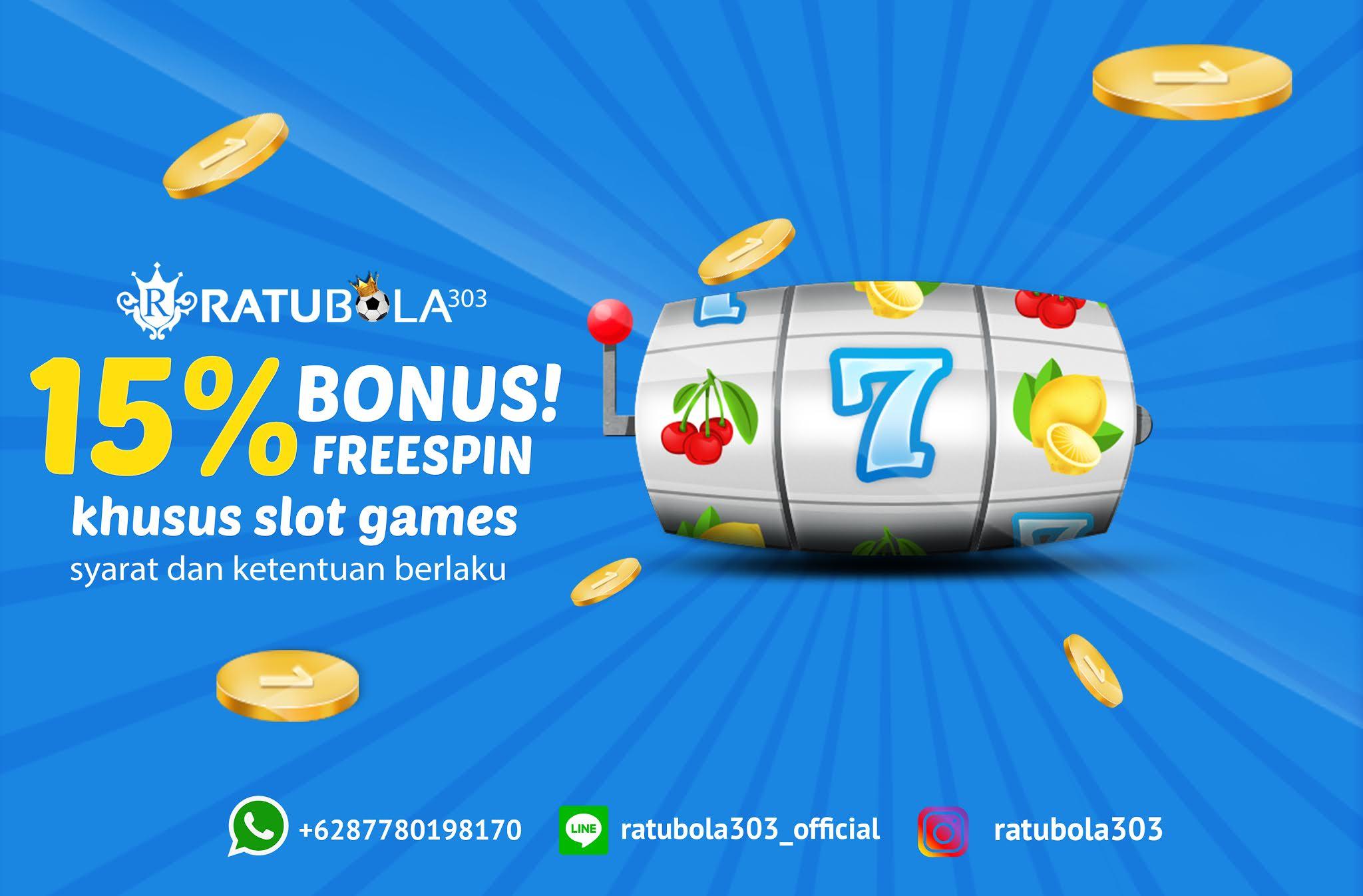 Extra Bonus Freespin 15% Ratubola303