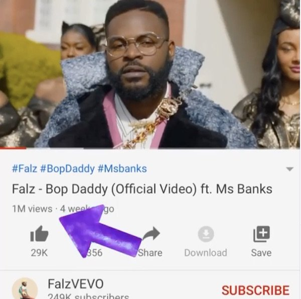"""Falz Celebrates As """"Bop Daddy' Hits 1 Million Views On Youtube"""