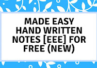 Made Easy Hand Written Notes of EE ( Electrical Engineering ) For