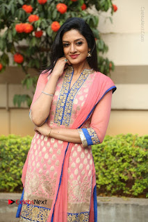 Actress Vimala Raman Stills in Beautiful Pink Salwar Kameez at (ONV) Om Namo Venkatesaya Press Meet  0166.JPG