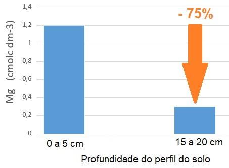 Gráfico - Comparação do teor de Mg