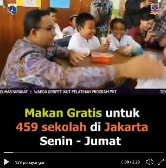 Program Anies Makan Gratis Buat 459 Sekolah di Jakarta