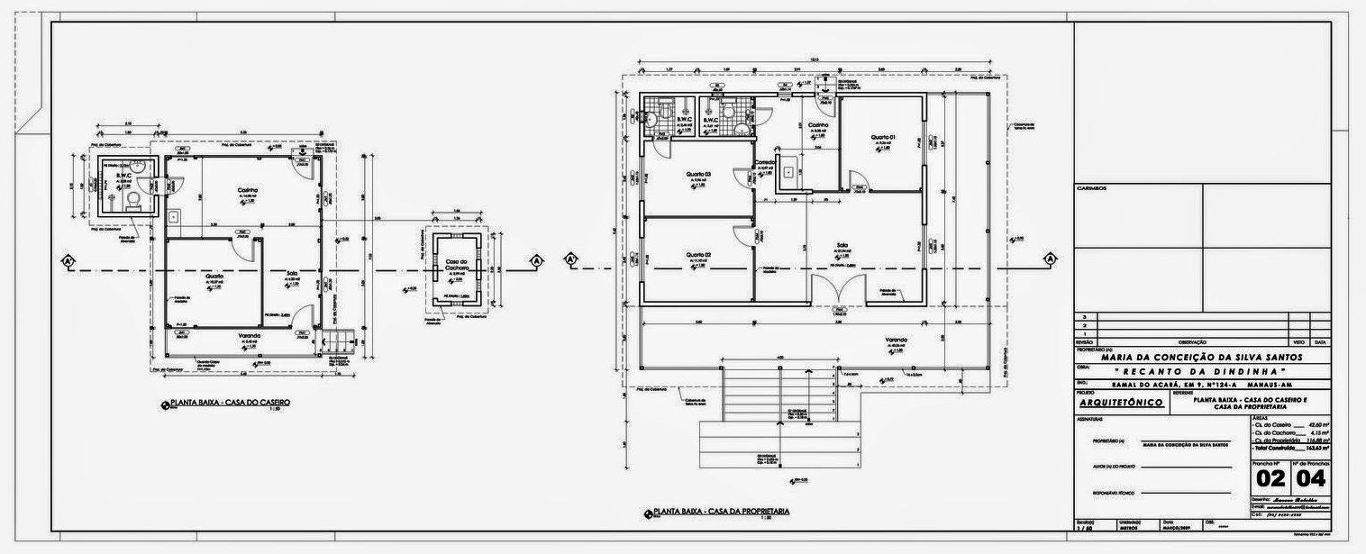 Projeto Arquitetônico - Sítio - Recanto da Dindinha Plantas