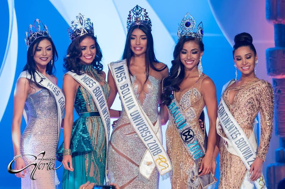miss bolivia 2018 winners Joyce Prado Vanessa Vargas Maria Elena Antelo Elena Antonia Romero Valentina Ramallo