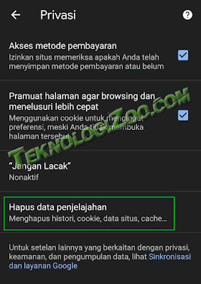 cara refresh google chrome di android