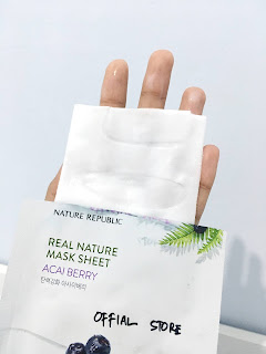 PERBEDAAN SHEET MASK NATURE REPUBLIC OFFICIAL STORE DAN UNOFFICIAL STORE