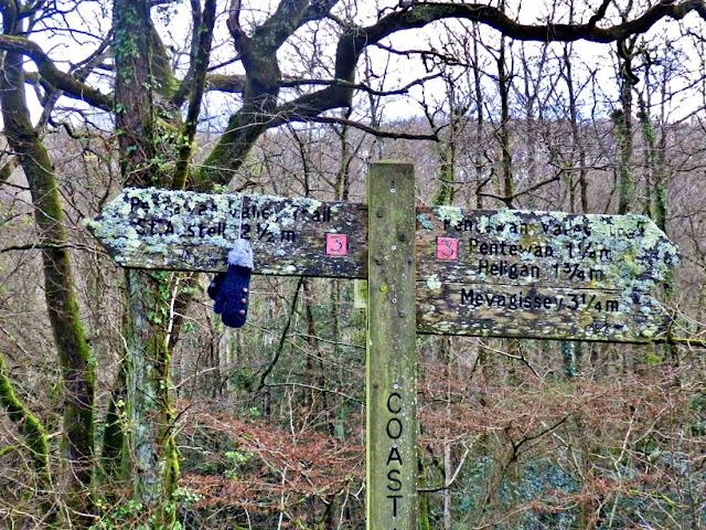 Sign Post, Pentewan, Cornwall