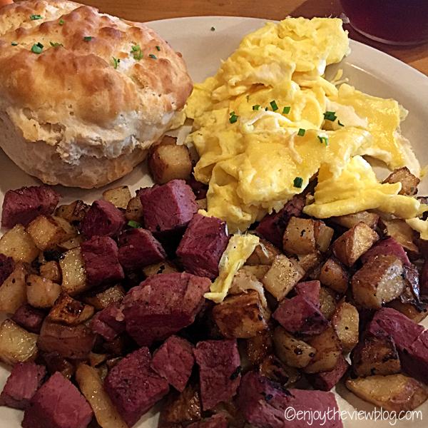 Breakfast at The Southern Public House in Tallahassee is delicious! #adventuresofgusandkim #travelover50 #wheretoeatinTallahassee #enjoytheviewblogtravel