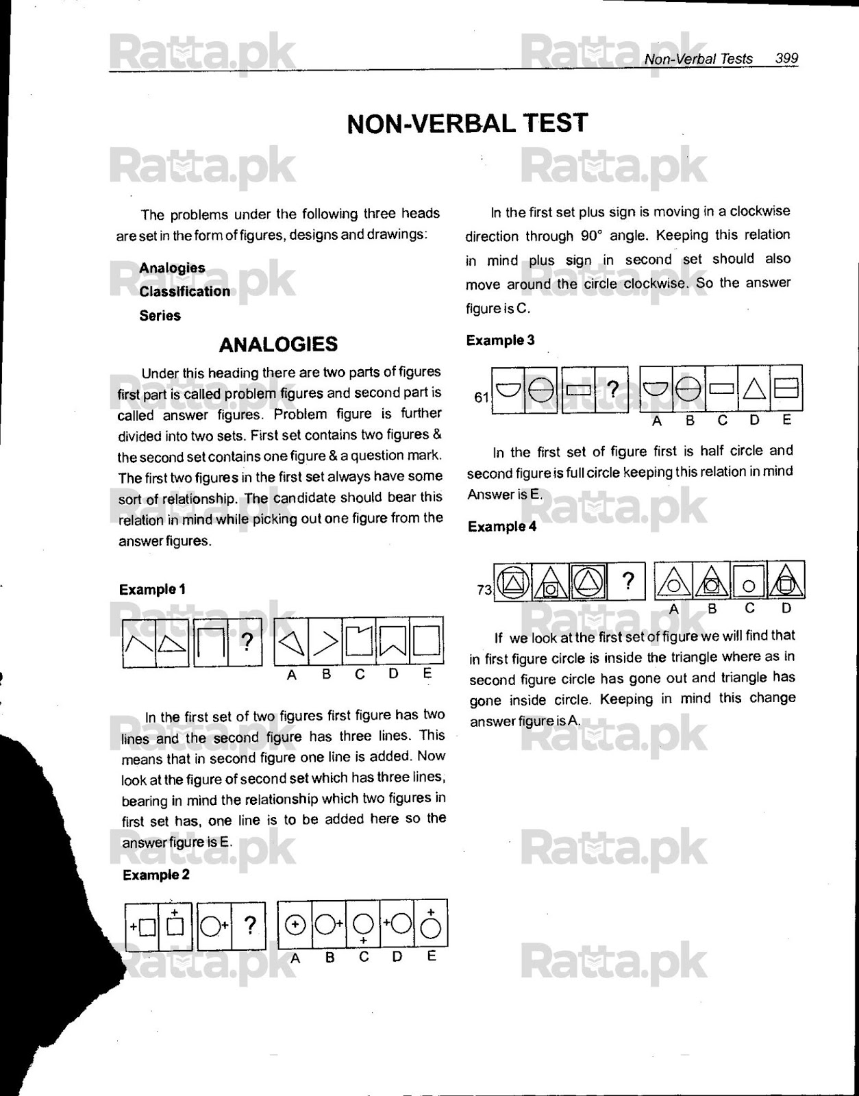 Non Verbal Reasoning Mcqs With Answers And Tricks