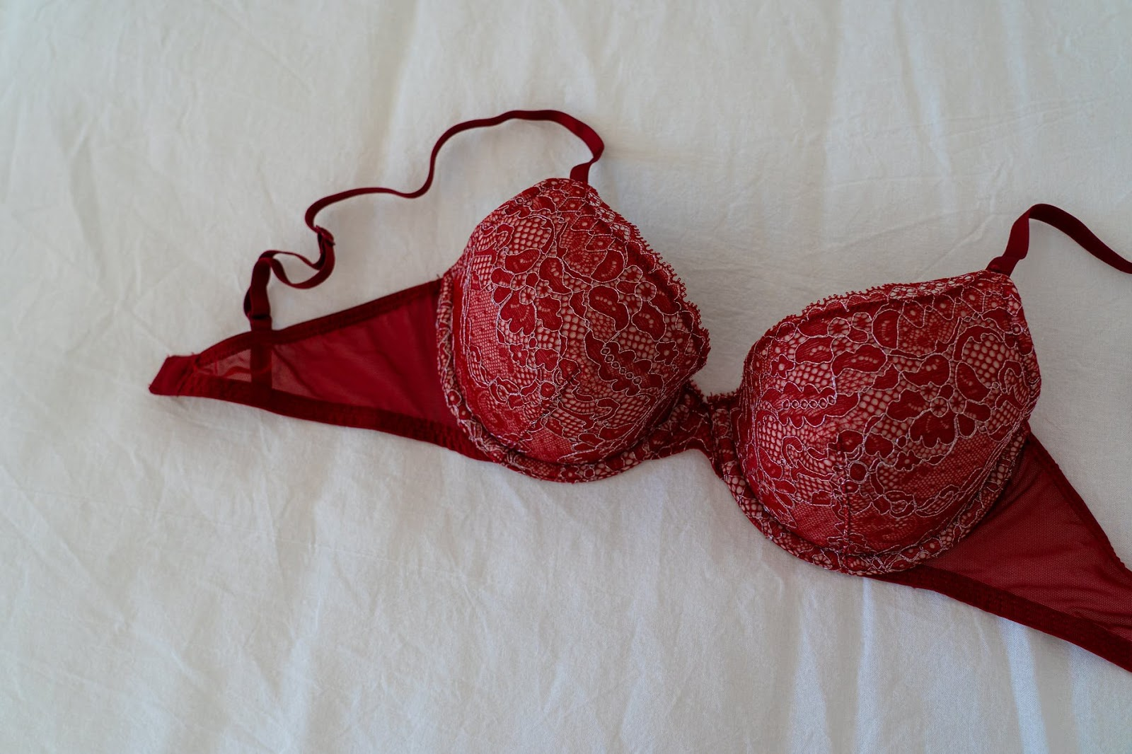 Red Plus Size Bra