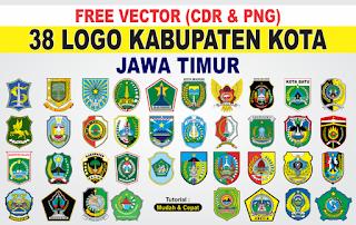 Free Vector Logo 38 Kabupaten Kota Jawa Timur PNG