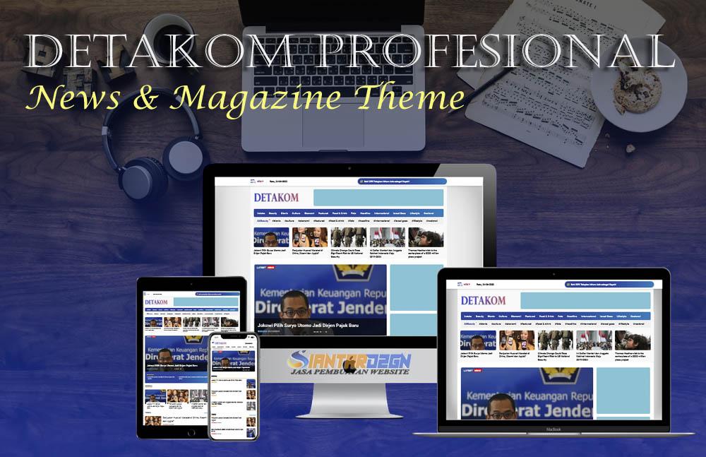 Detakom Profesional Blogger News & Magazine Template