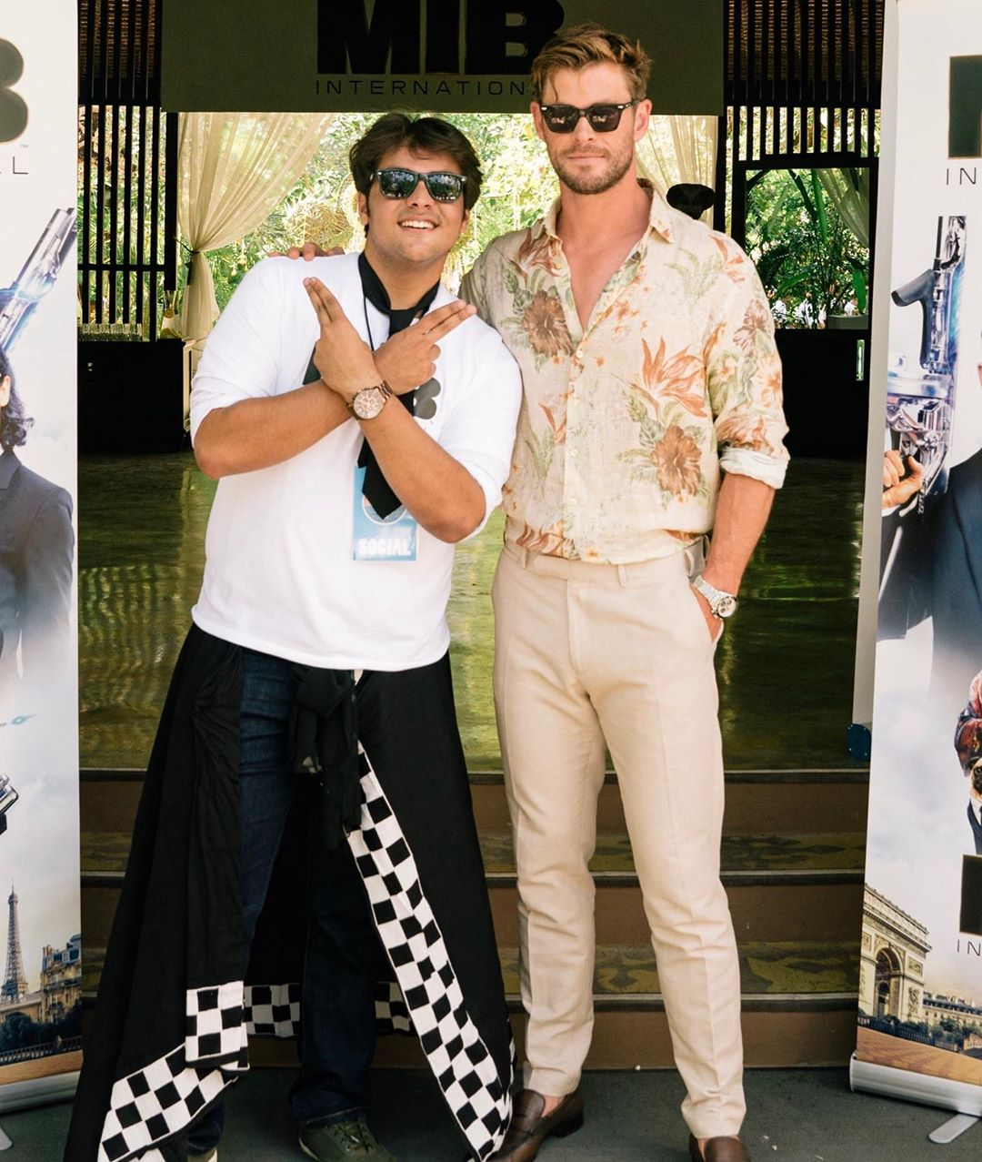 Ashish With Chris Hemsworth