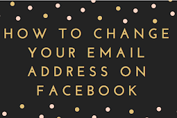 How to change your email address on Facebook